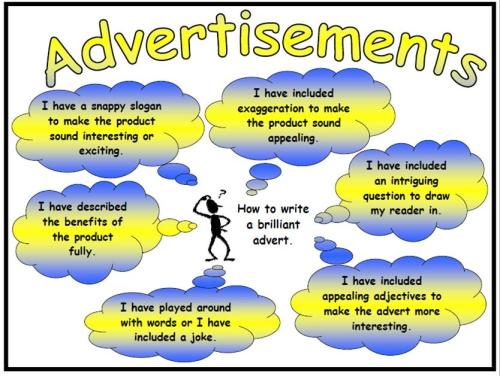 Advertisements Success Criteria Poster Mat