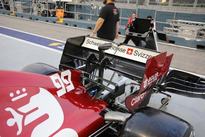 Alfa Romeo Racing C38, rear