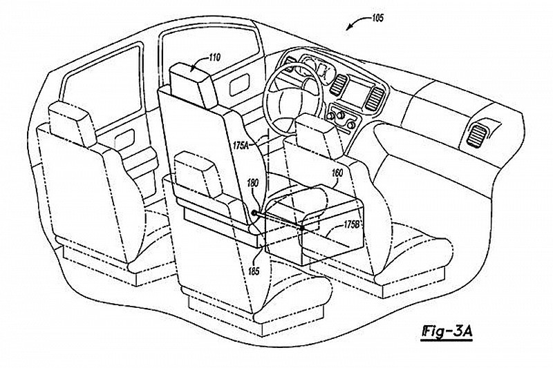 Ford patents autonomous vehicle interior with