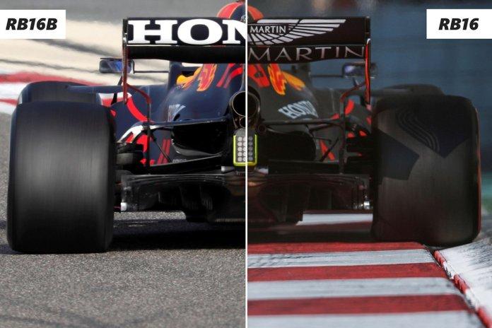 Detaje të pasme Red Bull RB16B Vs RB16