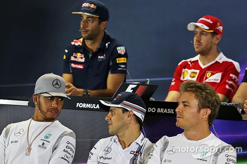 I piloti in conferenza stampa omaggiano Massa: