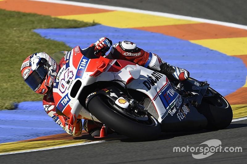Ducati: nei test di Valencia restano le ali per lavorare sulla ciclistica