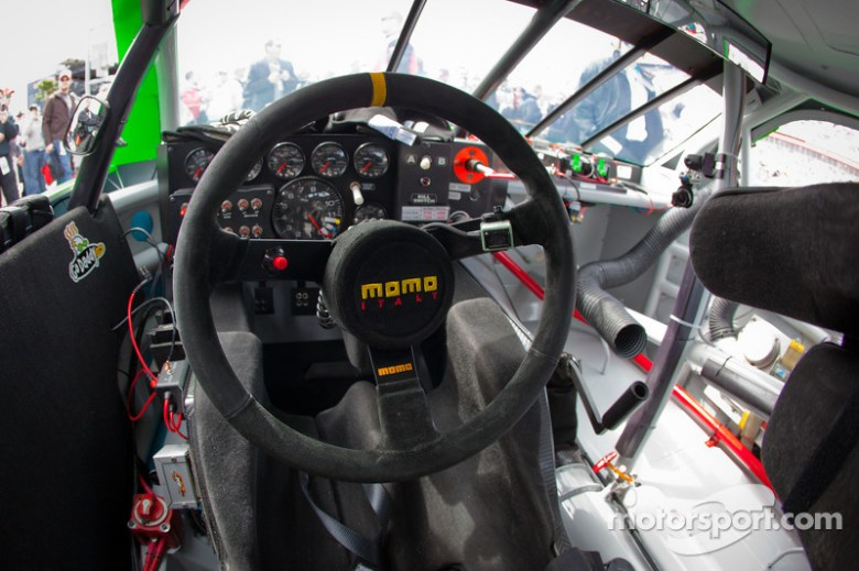 Cockpit of Danica Patrick, JR Motorsports Chevrolet at Daytona