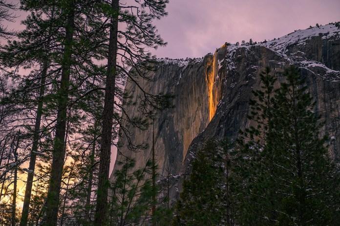 Mike Mezeul II photo of the Yosemite Firefall