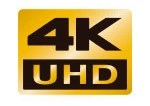 4K is an emerging standard for digital motion picture resolution. 4K UHD is 3840x2160 and provides four times as much resolution as Full HD (1920x1080).