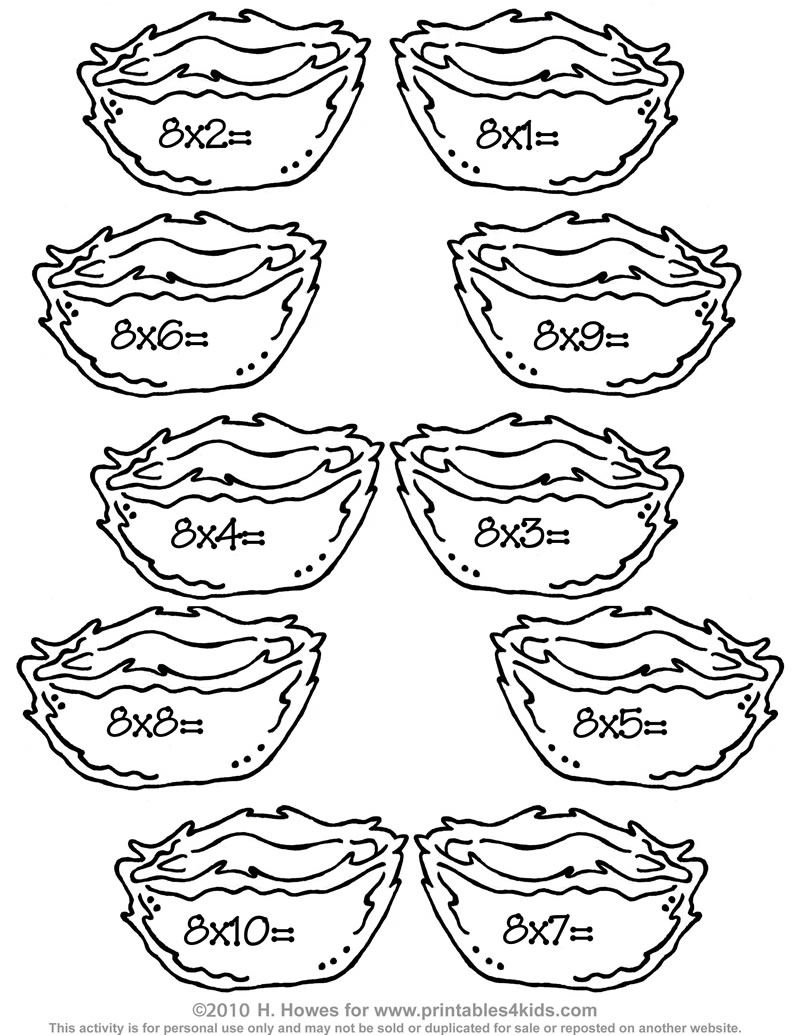 Free coloring pages of math problems