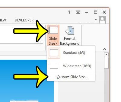 change slide orientation