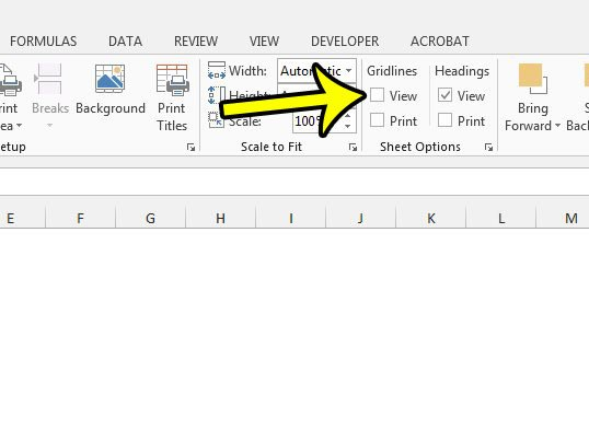 Can I Get Rid of the Lines on My Spreadsheet in Excel 2013? - Live2Tech