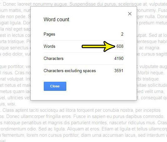 How Can I Find the Number of Words in My Google Docs