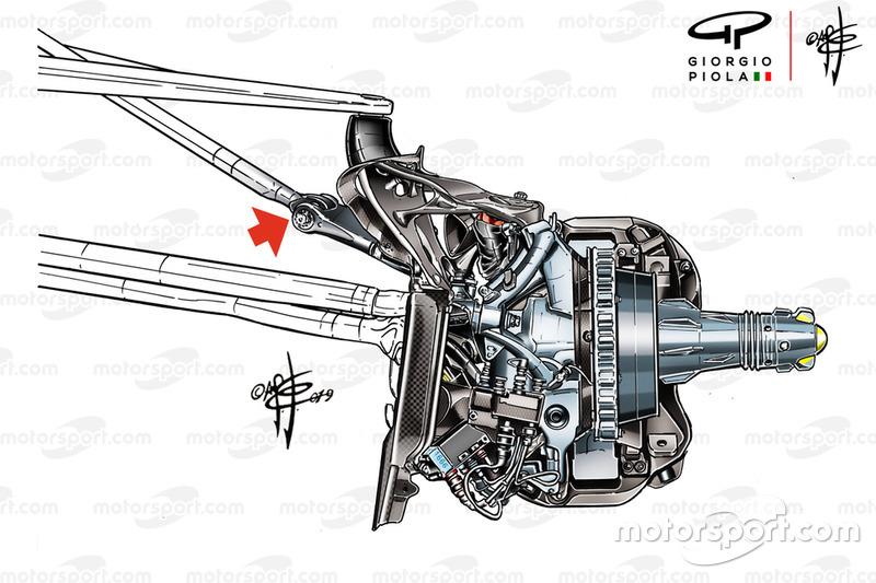 Mercedes AMG F1 W10 bracket technical detail