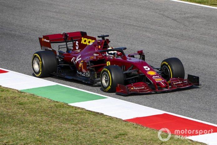 P14 Sebastian Vettel, Ferrari SF1000