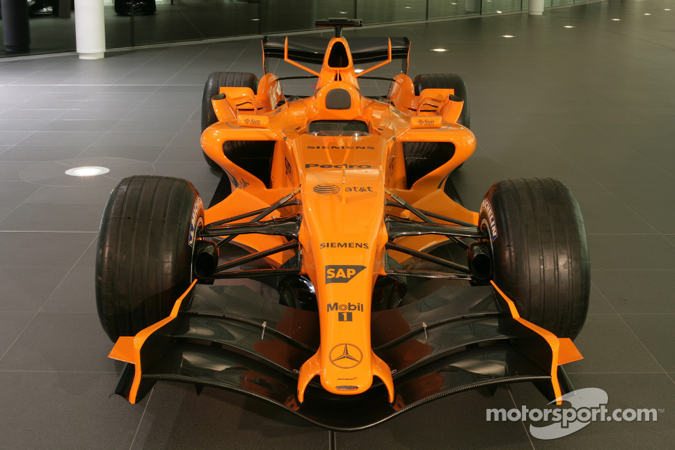 The new McLaren MP4-21 at the McLaren Technology Center