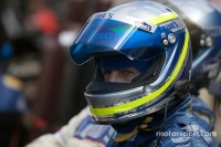 Lowe's Fernandez Racing team member ready for a pit stop ...