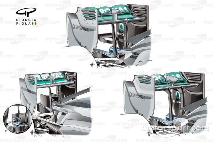 Mercedes W05 rear wing