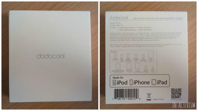 dodocool MFi認定 3in1 変換ケーブル化粧箱