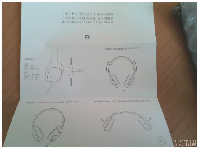 Original Xiaomi Headphones取説