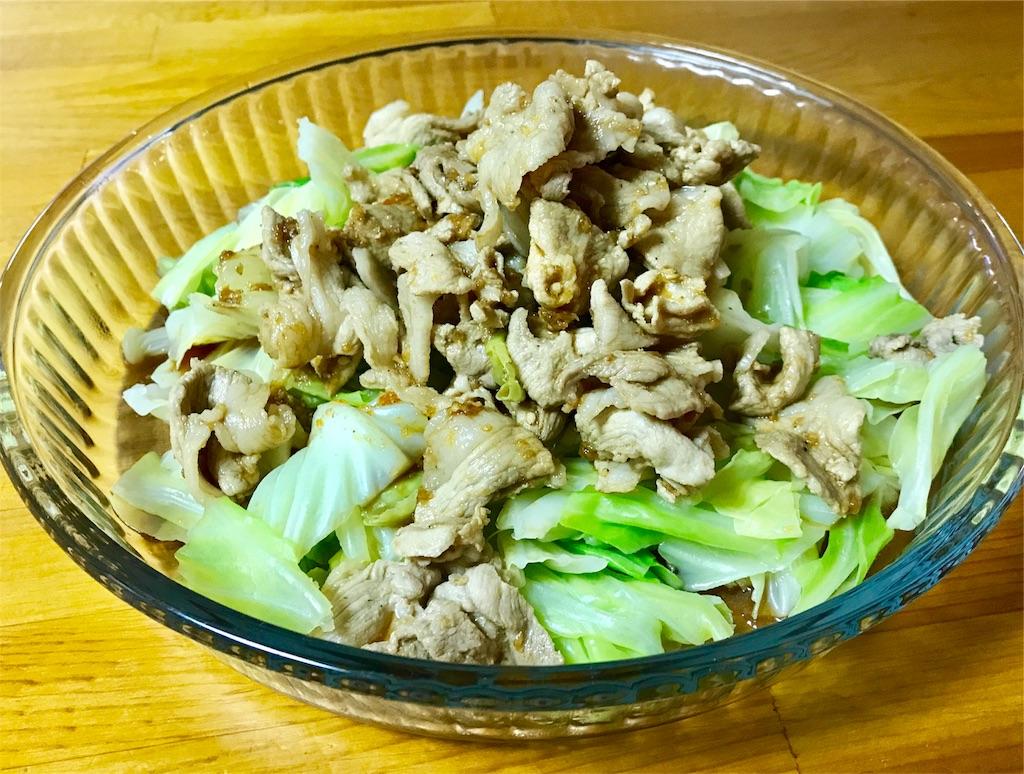 温野菜と豚肉炒め