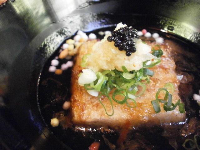 やまと旅館の「わらび」の揚げ出し豆腐2