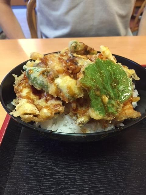 糸島・芥屋海水浴場近くの食事処なぎさの穴子丼のアップ