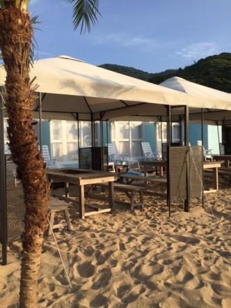 海の家玄海VIPルームのBBQスペース