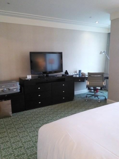 JWマリオットホテル・ソウルの客室テレビ