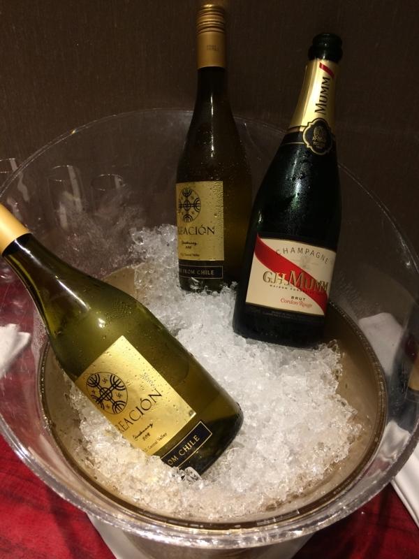東京マリオットホテルのエグゼクティブ・ラウンジのシャンパン