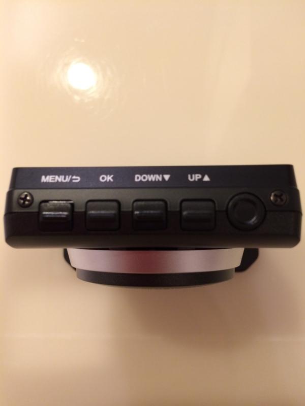 ドライブレコーダー コムテック ZDR-012操作ボタン