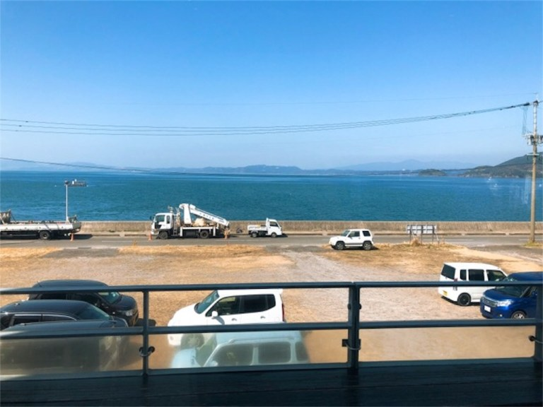 オカモト・シェ・ダムールのテラス席からの眺め