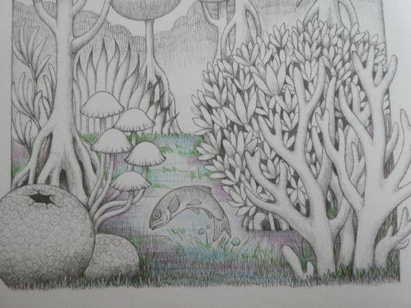 完成】クーピーとゲルペンで塗ってみました☆生き物たちの塗り絵songs