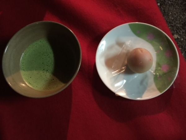 matcha for full moon festival in Kyoto