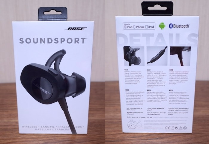 Bose SoundSport wireless headphonesレビュー