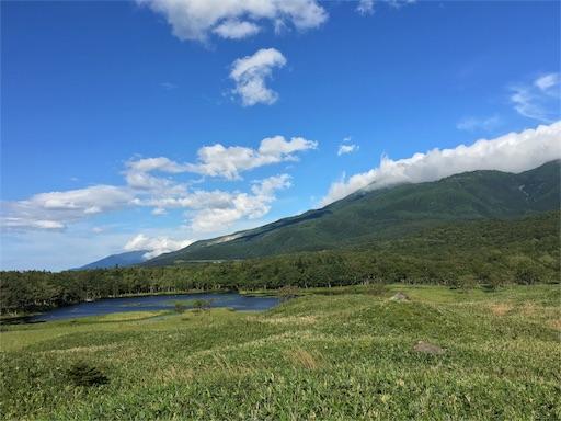 知床五湖、高架遊歩道より知床連山
