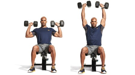 Dumbbell shoulder press for full body workouts
