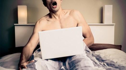 Young-Man-Screaming-O-Face-Masturbating-Laptop-Bedroom
