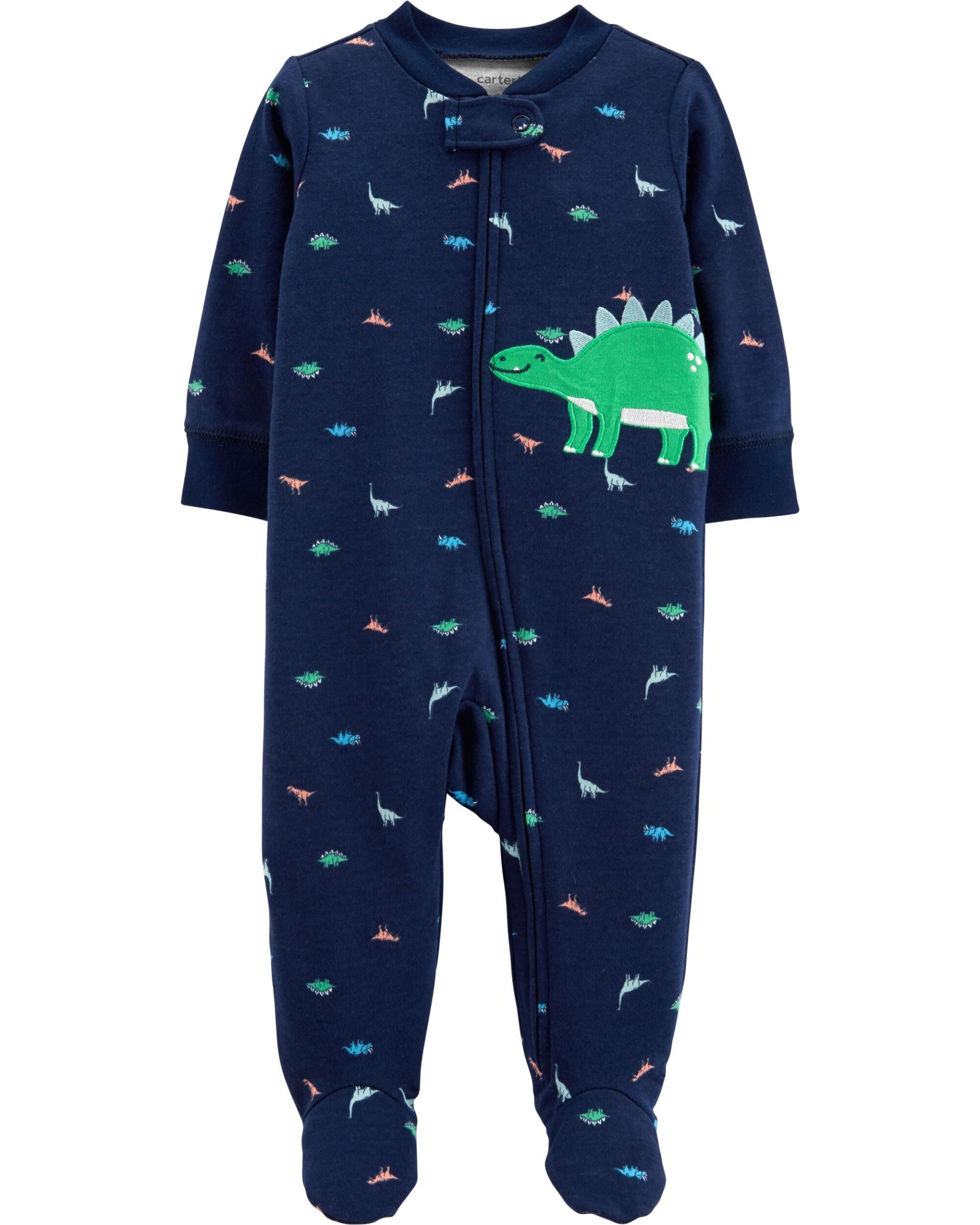 Dinosaur Zip-Up Cotton Sleep & Play
