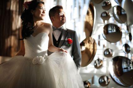 Kalamakeup for bride Cherie's wedding at Intercontinental hotel, H.K.