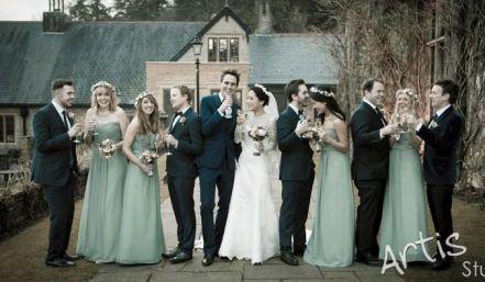 Kalamakeup for bride Jenny's wedding at garden in Kent, U.K.