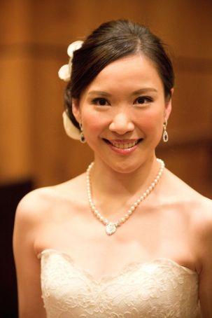Kalamakeup for bride Michelle's wedding at Four Season Hotel, H.K.