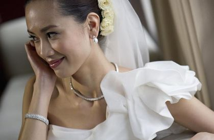 Kalamakeup for bride Midori's wedding at Peninsula hotel, H.K.