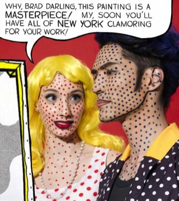 Kalamakeup Roy Lichtenstein creative makeup