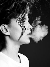 Kalamakeup creative rock N' Roll makeup with gemstones