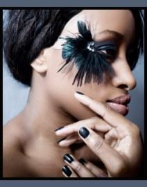 Kalamakeup black feather creative makeup