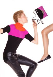 Fashion makeup and hair styling for Nine West catalog shoot