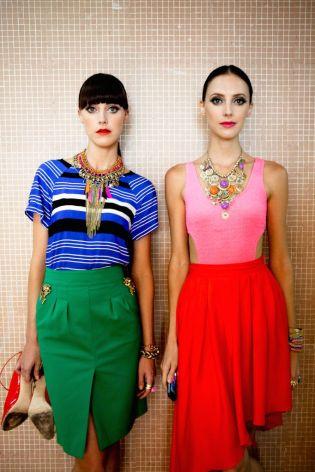 Fashion makeup for twins shoot