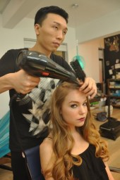 Kalamakeup makeup & hair styling for fashion shows for LKF events