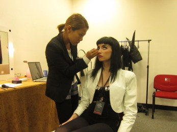 Kalamakeup makeup & hair styling for Zowie, Sony Music singer
