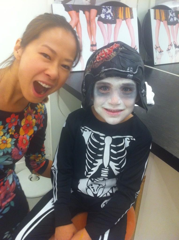 Kalamakeup face painting for kids for halloween shoot