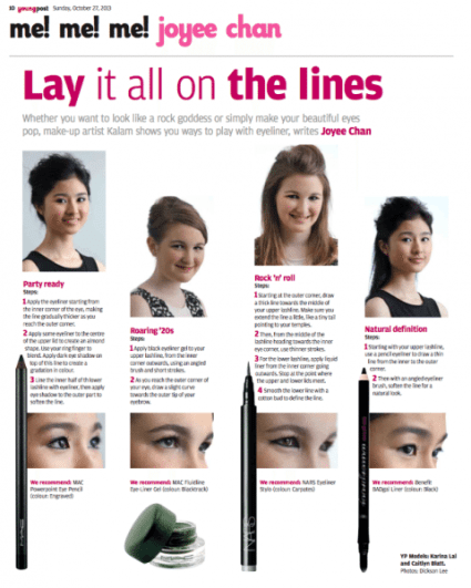 SCMP Sunday Young Post makeup demo by Kalam - Lay it all on the lines
