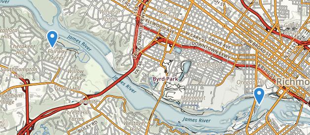 Belle Isle Richmond Virginia Map