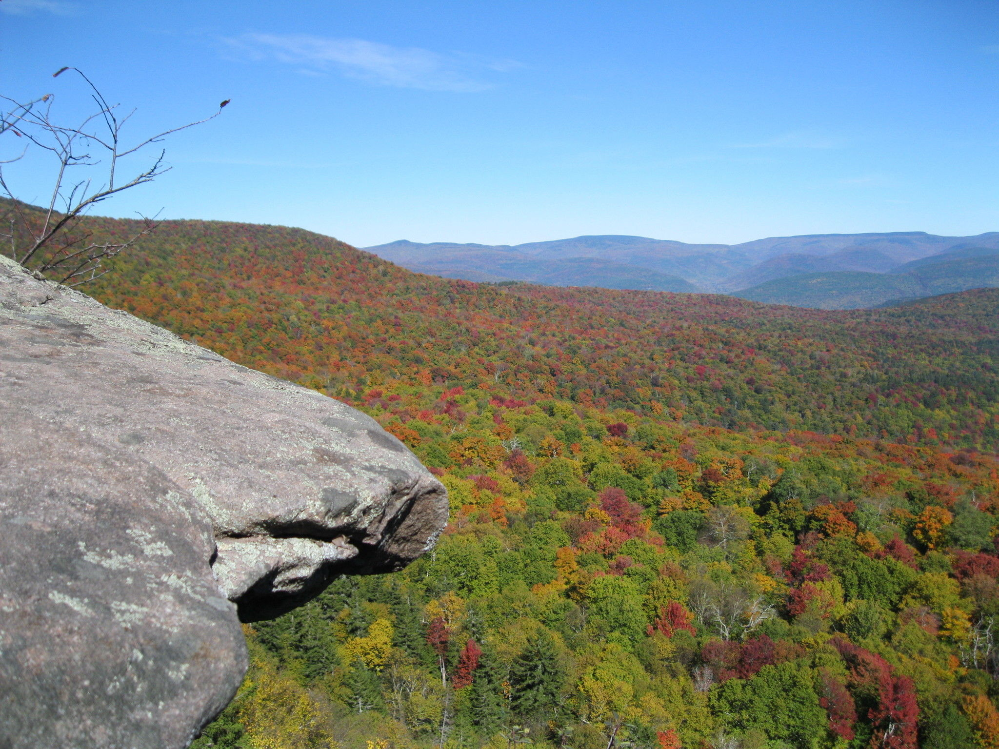 Giant Ledge and Panther Mountain Trail  New York